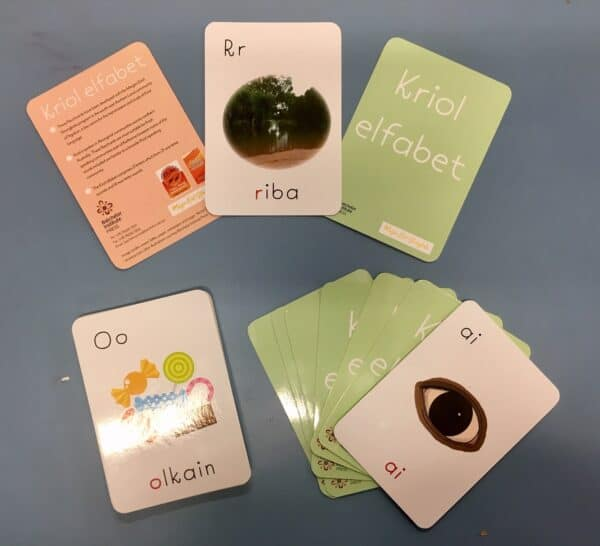 Image showing a set of Kriol alphabet flashcards